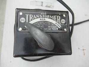 Vintage Marx Toy Train Transformer #1239