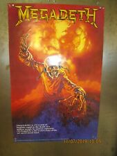 Megadeth State Of The Art Speed Metal Poster 1987 Rare! See Description Mustaine