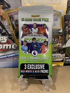 2020-21 Panini Prizm Premier League EPL Soccer Value Fat Cello 15 CARD Pack ⚽️🔥