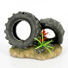 Resin Fish tank aquarium decoration figures Ornament, car tyre Wrench Ornament#