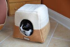 Armarkat Soft Velvet Machine Washable Cat Dog Pet Bed Cave Hut Brown Beige
