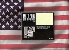 Matt Pond Love To Get Used rare DJ Promo CD
