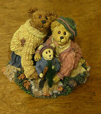 Boyds Bearstones #228348 Stephanie, John & George, NIB From Retail Store, 1st Ed