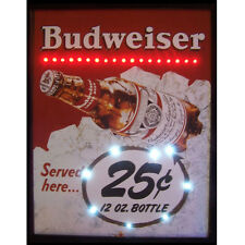 Budweiser Bud 25 cents wall art lamp Led Poster Neon sign bar light 1930's ad