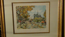 "CAMBIER,PIERE EUGENE PENCIL SIGNED AND NUMBERED ORIGINAL LITHOGRAPH""NOTRE DAME"""