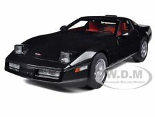 1986 CHEVROLET CORVETTE BLACK 1/18 DIECAST CAR MODEL BY AUTOART 71242