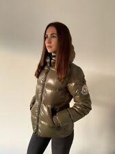 Moncler Badia Big Logo Down Jacket Puffer Coat AUTHENTIC  Women's Size 1 Green S