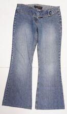 Juicy Jeans Womens Denim Pants Sz 28 Blue Flare Wide Leg Built-in Belt 34W 30L