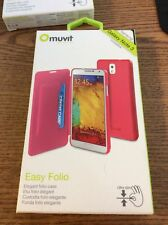 Muvit Easy Folio Case for Samsung Galaxy Note III Pink