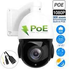 HD 1080P PTZ Outdoor POE IP Camera 30X Optical Zoom Pan/Tilt/ Security IR Night
