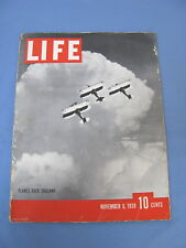 LIFE MAGAZINE NOVEMBER 6 1939 NORMANDIE QUEEN MARY EVI BRAUN HITLER PICS NICE!
