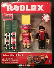 Roblox Series 1 HIgh School 2 Figures and Skateboards Lockers Hats New
