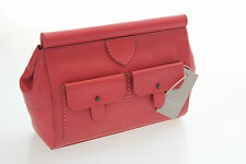 Radley Brand New Hemlock Clutch In Beautiful Coral Red Leather RRP £179.00