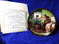 Norman Rockwell's The Inventor And The Judge Factory Box Coa