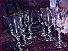 CANDLEWICK,  IMPERIAL GLASS. tall ,WATER  GOBLETS, (2 ) ( 6 sets  of 2 AVAIL) .
