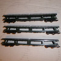 Fleischmann 8284 N Konvolut 3 x Autotransportwagen DDm der DB Epoche 4