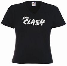 Punk Ladies Fitted V-Neck Tee, The Clash, punk, retro, rock, riot grrrl
