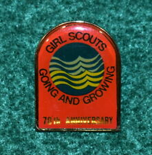 1987 Girl Scout PIN 75th Anniversary Tradition with Future COLLECTOR LEADER GIFT
