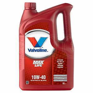 Valvoline MaxLife 10W-40 10W40 Engine Oil - 5 Litres 5L