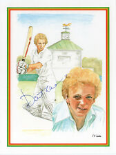 DAVID GOWER - Signed 8x6 Charicature - SPORT - CRICKET