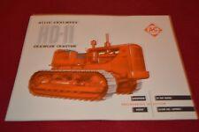 Allis Chalmers HD-11 Crawler Tractor Dealer's Brochure YABE14 ver21