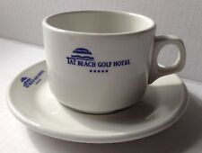 Tat Beach Golf Hotel Restaurant Ware Coffee Cup And Saucer, Belek, Turkey