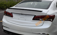 For 2015-2020 Acura TLX Carbon Fiber ABS Rear Tail Trunk Spoiler Wing Lip Trim