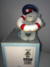 """LARGE 3.5"""" HIGH BOXED ME TO YOU FIGURINE TATTY TEDDY BEAR ~ ALL AT SEA WITHOUT U"""