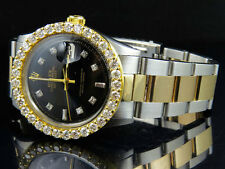 Rolex Datejust 2 Tone 18k Gold 36MM Stainless Steel Oyster Diamond Watch 5.6 Ct