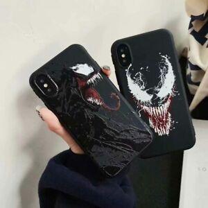 Soft Silicone Superhero Venom Phone Case Cover For iPhone 7 8 11 12Pro XS Max XR