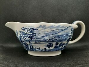 ENOCH WEDGWOOD LIBERTY BLUE - Lafayette Landing at West Point Sauce Boat Jug