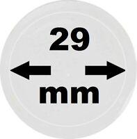 100 x LOOK Münzkapseln 29 mm Innendurchmesser - Aussen. 35 mm Glasklar mit Rand
