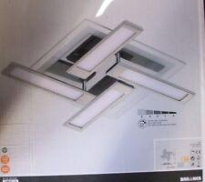 4 flammige LED  Deckenleuchte  mit vier schwenkbaren Panele 4x6 Watt-4x500Lumen