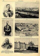 Hafen von Odessa von Meuterern des Panzerschiffes Potemkin bombadiert 1905