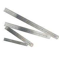 NICE 15/20/30/40cm Metal Ruler Metric Rule Precision Double Sided Measuring Tool
