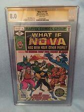 What If? #15 (Jul 1979, Marvel) CGC SS 8.0 SIGNED Marv Wolfman - Nova