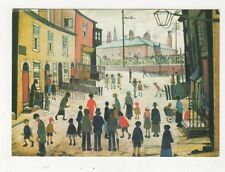 A Procession by LS Lowry Art Postcard 013b