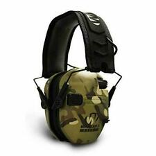 Walker's Razor Slim Electronic Hearing Protection Muffs with Green Multi Camo