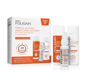 FOLIGAIN MEN'S TRIPLE ACTION Complete System (3-Piece Starter Pack)