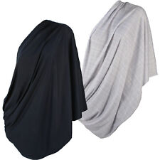 2pk Infinity Nursing Scarf Breastfeeding Cover Ultra Soft Cotton in Grey & Black