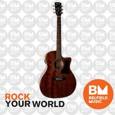 Cort GA1F-M Grand Auditorium Acoustic Guitar Mahogany Top Gloss Satin w/ Pickup
