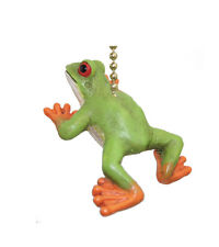 Clementine Design Green Tree Frog Ceiling Fan Pull Light Chain Fanpull