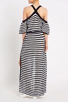 BNWT RRP$395 2pc Set SASS & BIDE ARMY OF ME Knit Maxi Dress Stripe Size M