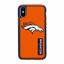 For Apple iPhone X Denver Broncos Dual Hybrid 2 Piece Protective Case NFL