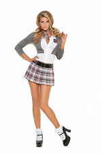 Queen of Detention Costume Plaid Skirt Plus Size Available School Girl