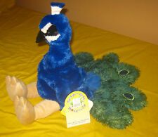 Build-A-Bear 16 in. ZOO PEACOCK Retired Plush