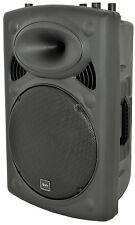 "QTX QR15K 400W Active Powered 15"" DJ PA Speaker or Monitor. Bass, Treble & Echo"