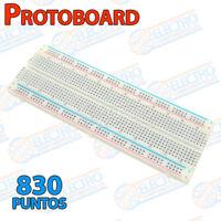 Protoboard MB-102 Blanco 830 puntos con lineas contactos breadboard prototipo