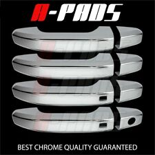 FOR 2020 CHEVY SILVERADO 1500 LT Crew Cab CHROME 4 DOOR HANDLE COVER W/2 SMART K