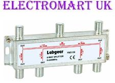 Labgear 6 vías divisor de antena de TV digital virgen cielo satélite de banda ancha